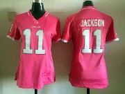 Women  Nfl Washington Redskins #11 Jackson Pink Bubble Gum Jersey