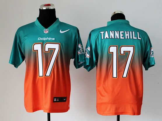 Mens Nfl Miami Dolphins #17 Tannehill Green&orange Drift Fashion Ii Elite Jersey