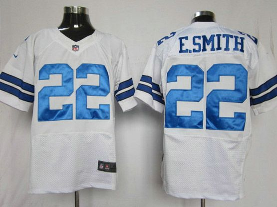 Mens Nfl Dallas Cowboys #22 E.smith White Elite Jersey