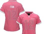Women  Nfl Seattle Seahawks #12 Fan Pink Bubble Gum Jersey