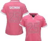 Women  Nfl Seattle Seahawks #25 Sherman Pink Bubble Gum Jersey