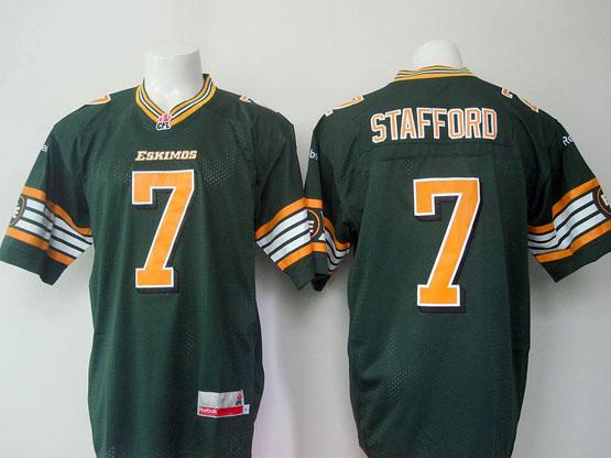 Mens Cfl Edmonton Eskimos #7 Stafford Green Jersey