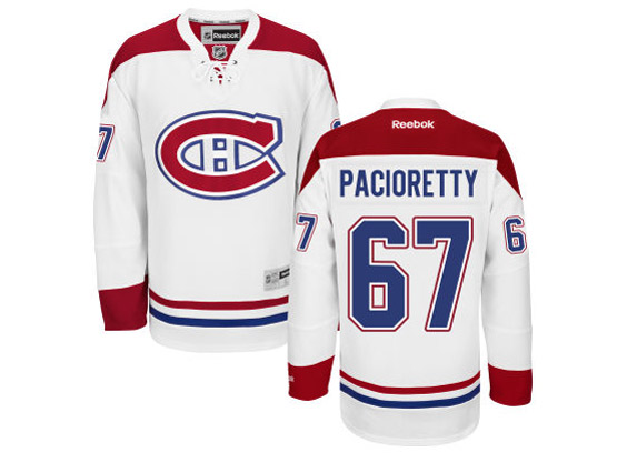 Mens Reebok Nhl Montreal Canadiens #67 Pacioretty White (ch) Lacing Jersey