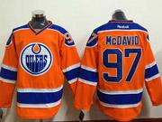 Mens Reebok Nhl Edmonton Oilers #97 Mcdavid Orange Jersey