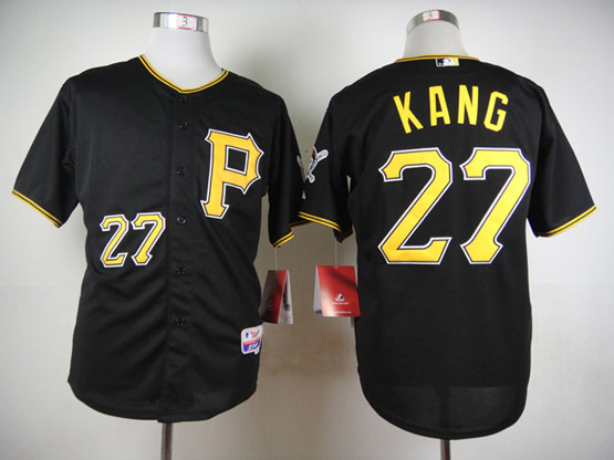 Mens Mlb Pittsburgh Pirates #27 Kang Black Jersey