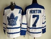 Mens Nhl Toronto Maple Leafs #7 Horton White Throwbacks 3rd Jersey