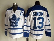 Mens Nhl Toronto Maple Leafs #13 Sundin White Throwbacks 3rd Jersey