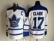 Mens Nhl Toronto Maple Leafs #17 Clark White Throwbacks 3rd Jersey