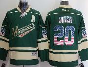 Mens Reebok Nhl Minnesota Wild #20 Suter Green (usa Flag Fashion) A Patch Jersey