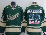 Mens Reebok Nhl Minnesota Wild #22 Niederreiter Green (usa Flag Fashion) Jersey