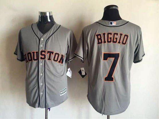 Mens Mlb Houston Astros #7 Biggio Gray 2015 New Jersey