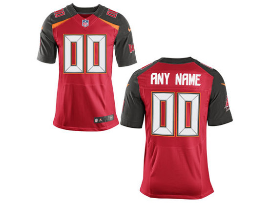 Nfl Tampa Bay Buccaneers (custom Made) Red Elite Jersey