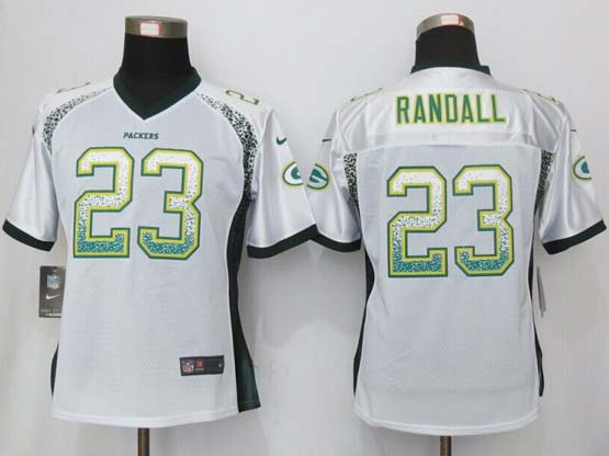 Women  New   Green Bay Packers #23 Randall Drift Fashion White Elite Jersey