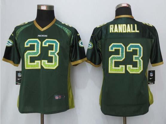Women  New   Green Bay Packers #23 Randall Drift Fashion Green Elite Jersey