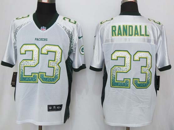 Mens New Nike Green Bay Packers #23 Randall Drift Fashion White Elite Jersey