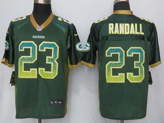 Mens New Nike Green Bay Packers #23 Randall Drift Fashion Green Elite Jersey