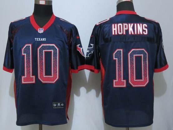 Mens Nfl Houston Texans #10 Hopkins Drift Fashion Blue Elite Jersey
