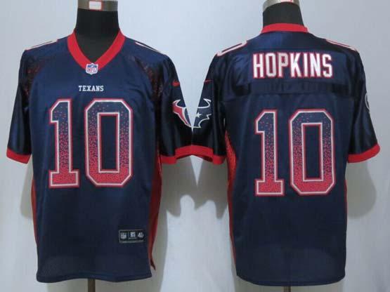 Mens Nfl Houston Texans #10 Hopkins Drift Fashion Blue Elite Jersey