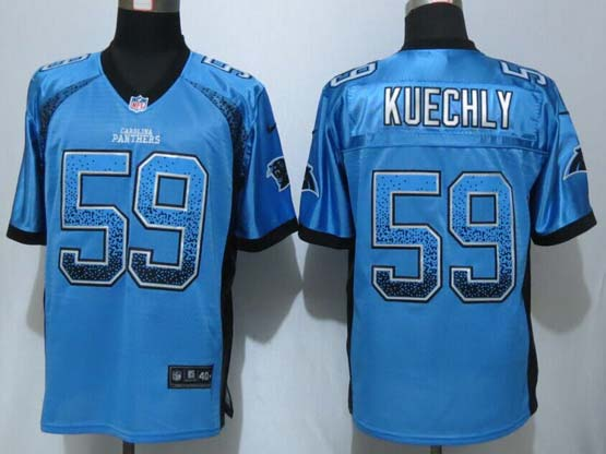 mens nfl carolina panthers #59 kuechly light blue drift fashion elite jersey
