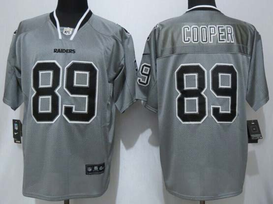 mens nfl Oakland Raiders #89 Amari Cooper 2014 lights out gray elite jersey