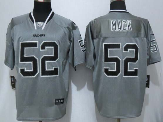 Mens Nfl Oakland Raiders #52 Mack 2014 Lights Out Gray Elite Jersey