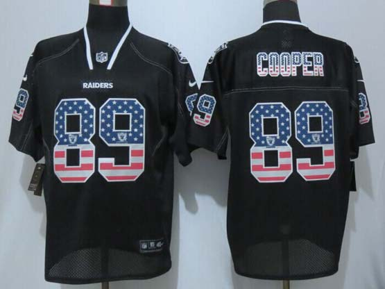 mens nfl Oakland Raiders #89 Amari Cooper black (2014 usa flag fashion) elite jersey
