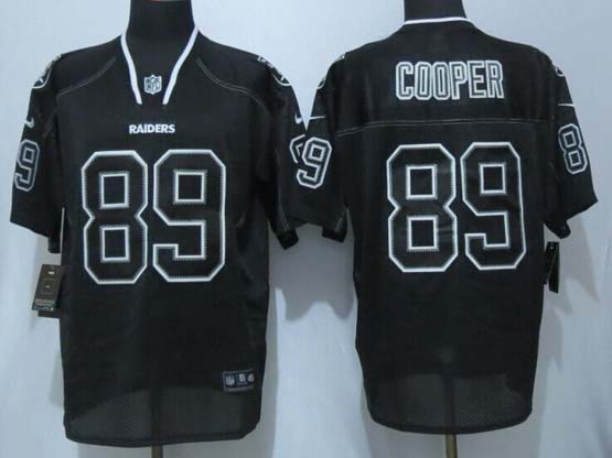 mens nfl Oakland Raiders #89 Amari Cooper (new) lights out black elite jersey