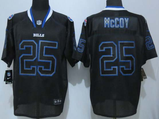 mens nfl Buffalo Bills #25 LeSean McCoy (new) lights out black elite jersey