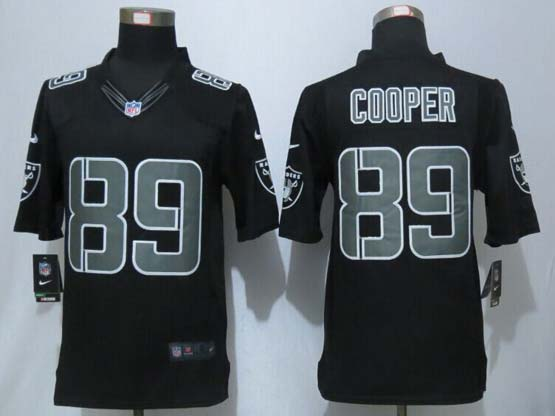 Mens Nfl Okland Raiders #89 Cooper Black Impact Limited Jersey