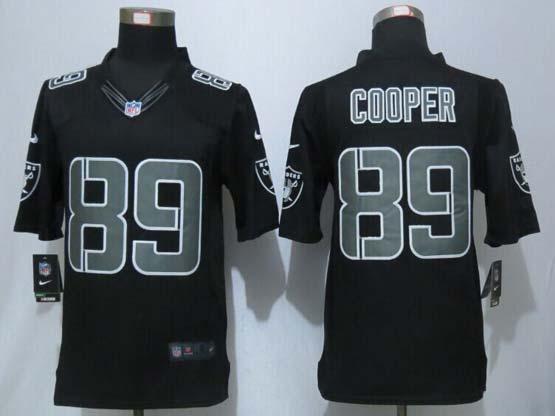 mens nfl Oakland Raiders #89 Amari Cooper black impact limited jersey