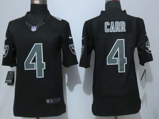 mens nfl Oakland Raiders #4 carr black impact limited jersey