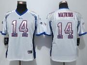 women  nfl Buffalo Bills #14 Sammy Watkins drift fashion white elite jersey