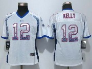 women  nfl Buffalo Bills #12 Jim Kelly drift fashion white elite jersey