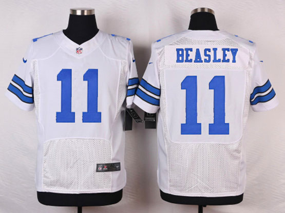 mens nfl Dallas Cowboys #11 Cole Beasley white elite jersey