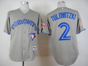 Mens Mlb Toronto Blue Jays #2 Tulowitzki Gray (2012) Jersey