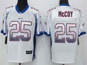 Mens Nfl Buffalo Bills #25 Lesean Mccoy Drift Fashion White Elite Jersey