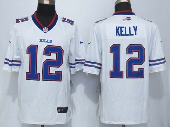 mens nfl Buffalo Bills #12 Jim Kelly white new limited jersey