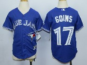 Youth Mlb Toronto Blue Jays #17 Goins Blue (2012 Majestic) Jersey