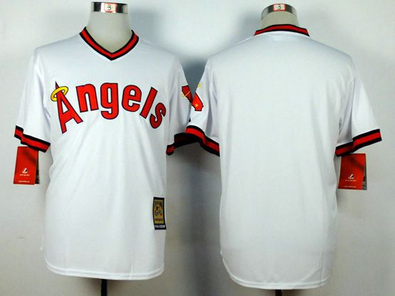 Mens Mlb Los Angeles Angels (blank) White 1980 Throwbacks Jersey