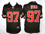 Youth Ncaa Nfl Ohio State Buckeyes #97 Bosa Black (red Number) Jersey
