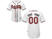 Mlb Mens Women Youth Atlanta Braves (custom Made) White Cool Base Jersey