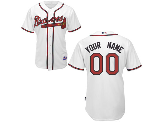 Mens Majestic Atlanta Braves White Cool Base Jersey