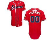 Mlb Mens Women Youth Atlanta Braves (custom Made) Red Cool Base Jersey