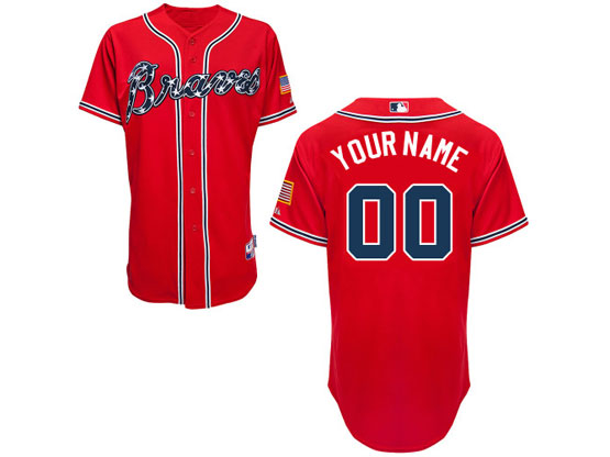 Mens Womens Youth Majestic Atlanta Braves Red Cool Base Jersey
