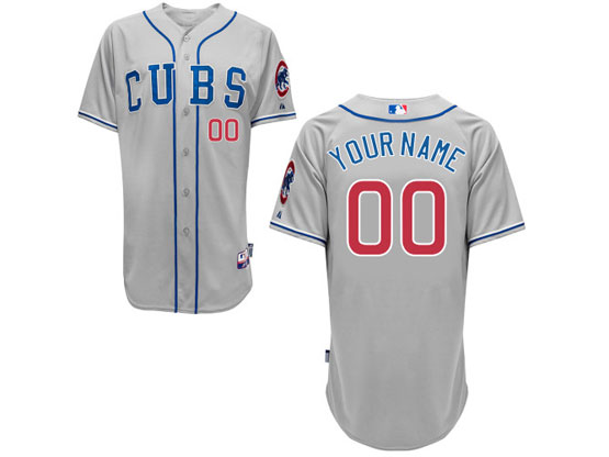 Mens Majestic Chicago Cubs Gray Cool Base Jersey
