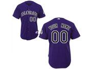 Mlb Colorado Rockies (custom Made) Purple Jersey
