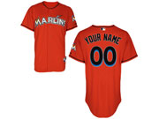 Mlb Miami Marlins (custom Made) Orange Jersey