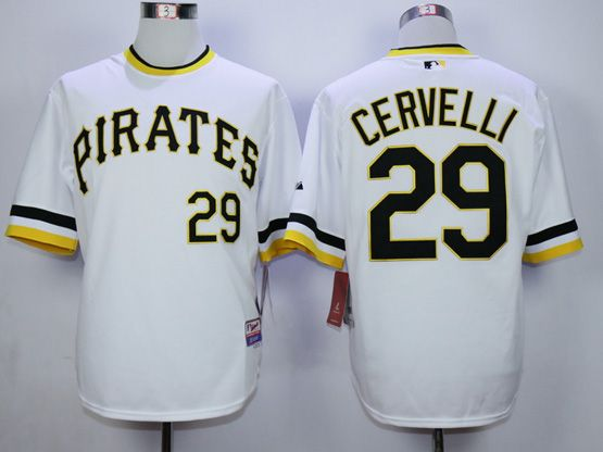 Mens Mlb Pittsburgh Pirates #29 Cervelli White Pullover Jersey