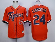 MLB DETROIT TIGERS #24 CABRERA ORANGE (2015 Majestic) JERSEY
