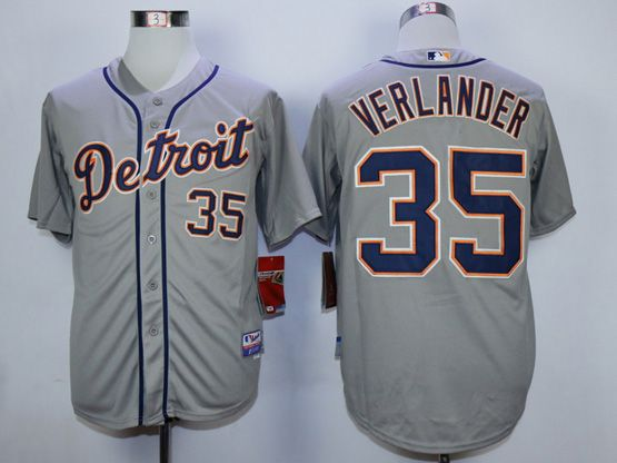 Mens Mlb Detroit Tigers #35 Verlander Gray Jersey